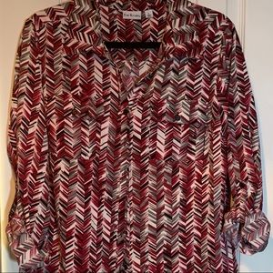 Kim Rogers Button Down Long Sleeve Size Large